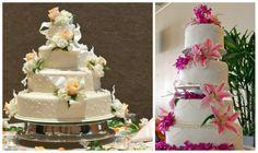 Ideas para pasteles de boda en primavera