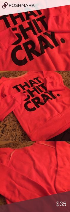 """❤️️🔥❤️️ 3/$25 NWOT Love this!!!!💥💥💥💥 A color so unique it is so hard to describe! It's almost like a neon coral with a touch of pink. Phenomenal material and the perfect consistency of warmth from texture. An awesome ribbing of fabric extension around the shoulder seams. Long sleeve and an open neckline that does not strangle nor does it slouch off of the shoulder. Makes me laugh every time! 👑👑👑👑 neck length X width is 13.5"""" X 16"""" and that 16 includes the shoulder so it won't…"""