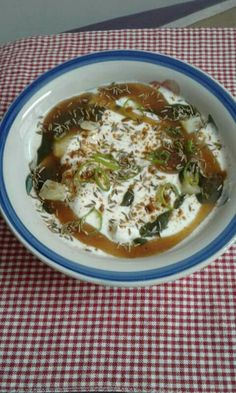 Potato yoghurt chaat