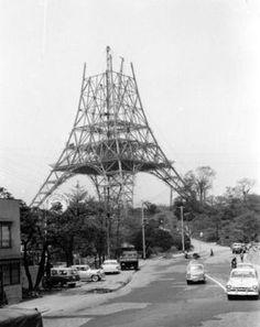 昭和30年 建設中の東京タワー