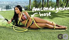 Nicki Minaj Gets Naughty With A Garden Hose As She Makes GQ's Annual Hottest Women In Culture List!