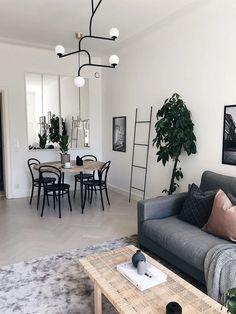 Dining Room Inspiration, Home Decor Inspiration, Apartment Interior Design, Room Interior, Home Living Room, Living Room Decor, Dining Room Design, Decoration, Small Living Dining