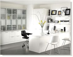 Love the storage!  from www.office-design...