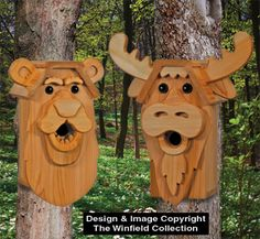 Cedar Bear & Moose Birdhouse Plans