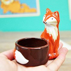 YOURNELO Cute Cermic Fox Birthday Tealight Candlesticks Candleholders for Kids ** Click on the image for additional details.Note:It is affiliate link to Amazon.