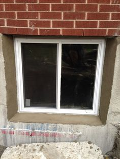 Unique Cutting Concrete for Basement Window