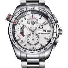 US $64.80 - Pagani Design Full Stainless Steel Sports Watches Men Top Brand Luxury Quartz Watches Clocks Relogio Masculino