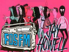 rad illustration by Jay Howell #FosFM #kchungradio #cartoon #art
