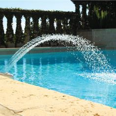 Shopping for Color Cascade Waterfall Fountain? Pool Supplies Superstore has them in stock now at the guaranteed lowest price. Swimming Pool Fountains, Swimming Pool Waterfall, Swimming Pool House, Luxury Swimming Pools, Pond Fountains, Swimming Pool Designs, Swimming Pool Accessories, Indoor Waterfall, Luxury Pools