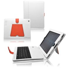 So elegant iPad 2, 3 keyboard case. White and red combination.