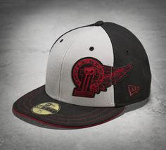 65c7c68399993 Get epic style with the Winged Baseball Cap. Our flat brim men s baseball  hat looks slick with the aggressive patch slightly off center.