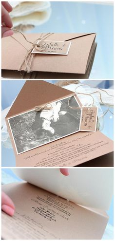 wedding invitations with photo rustic wedding invitations