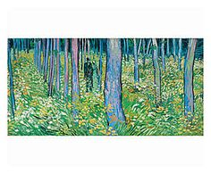 Stampa su canvas Undergrowth with two figures - 100x50x4 cm