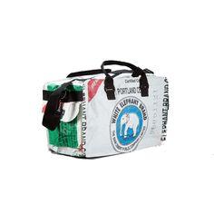 Torrain Small Duffle - White Elephant Feed Bags, White Elephant, Recycling, Xmas, Backpacks, Wallet, Travel, Shopping, Viajes