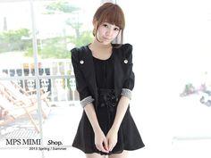 CliPick 的MPSMIMI 的現貨/黑色.優雅氣質墊肩西裝外套 http://www.clipick.com/item?sid=152792