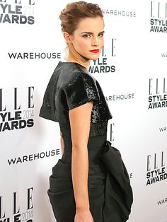 Star Tracks: Wednesday, February 19, 2014 | STARE MASTER | She looks like a winner to us! Emma Watson strikes a fierce pose on the red carpet Tuesday at the Elle Style Awards in London.