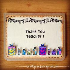 Handmade Cards For Teachers Day. Happy Teachers Day Card Handmade Cards For Teachers Day. Handmade Teachers Day Cards, Teachers Day Card Design, Greeting Cards For Teachers, Teachers Day Greetings, Teacher Thank You Cards, Kids Cards, Cards Diy, Teacher Gifts, Teacher Birthday Card