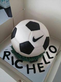 Nike Football Cake- by Sugarss   https://m.facebook.com/Sugarssnl