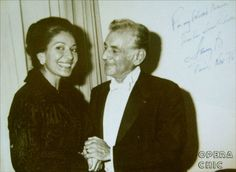 "Leonard Bernstein and Maria Callas, with the inscription, ""For my beloved Maria from her almost-lover Lenny B. Paris, Nov. '76"""