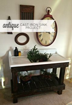 I love a salvaged antique cast iron sink. This is the story of our salvaged antique cast iron sink project! Cast Iron Farmhouse Sink, Cast Iron Kitchen Sinks, Cast Iron Sink, Antique Farmhouse, Farmhouse Furniture, Farmhouse Decor, Farmhouse Ideas, Country Farmhouse, Antique Furniture