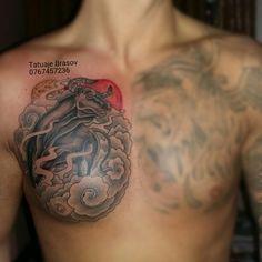 Chest+bull+japanesse+tattoo