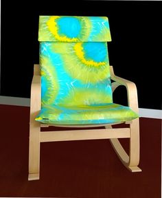 IKEA POÄNG Cushion Slipcover  Tie Dyed Lime by RockinCushions