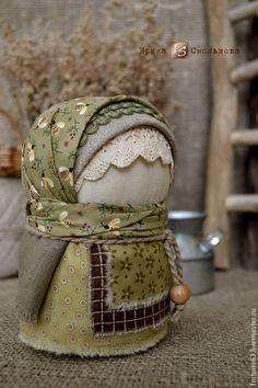 Купить народная кукла-оберег КРУПЕНИЧКА - оливковый, текстильная кукла, народная кукла, народный стиль