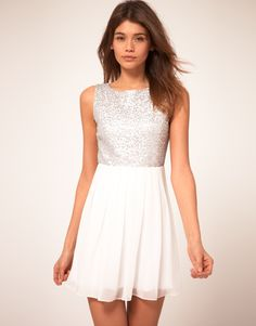 TFNC Babydoll Dress With Sequin Bodice  $75.20