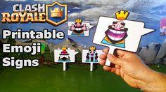 Printable Clash Royale Emoji Signs