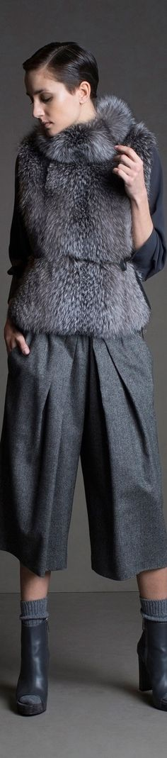 Gray Aesthetic, Fur Clothing, Fabulous Furs, Autumn Winter Fashion, Fashion Fall, Brunello Cucinelli, Shades Of Grey, Women's Fashion Dresses, Couture Fashion