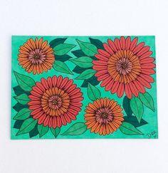 Orange Blossom Artist Trading Card Original ACEO Art Card