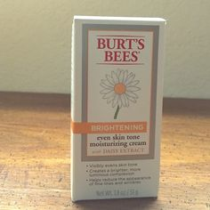 Burt's Bees Brightening moisturizing cream NEW IN BOX! Burt's Bees Brightening Moisturizing Cream. Natural skin brightening agent. Reduces dark spots and pigmentation. Reduces fine lines and wrinkles.                               I DO ACCEPT OFFERS! :) Burt's Bees Makeup