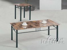3-pc Pack Crossville Coffee Table Set W/Faux Marble Top Acs60783 by click 2 go. $229.99. some assembly maybe required.