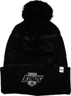 7c76fbd54b0 LA Kings 47 Brand Ski Track Cuff Knit Black NHL Bobble Hat