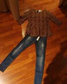 #superkinnyjeans euro 25#camicia con #balza #valeria #abbigliamento