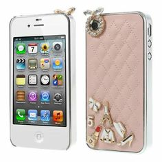 Grid Leather #Diamond Case for #iPhon4s/4