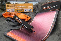 Flexcell Sunpack 7Watt, handig voor laden tijdens het hiken!