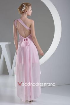 #promdress #prom #dress  Attractive A-Line Chiffon Asymmetrical Beadings Evening Dress