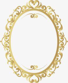 Vector Gold retro pattern border, Retro Borders, Pattern, Frame PNG and Vector Retro Pattern, Gold Pattern, Snow White Invitations, Molduras Vintage, Decorative Lines, Beauty And The Beast Party, Birthday Frames, Theme Background, Disney Princess Party