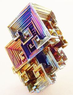 Bismuth Crystal Art #0019 by BeeblebroxZ