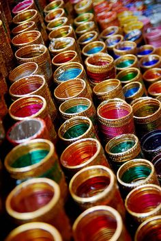 Colorful Indian Bangles, add some color to your Mehendi Outfit!