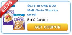 $0.75 off ONE BOX Multi Grain Cheerios cereal