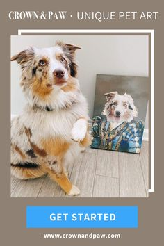 Give your beloved pet pride of place with a completely one of a kind pet portrait. Our artists will hand design an incredibly life like masterpiece based on a photo of your pet. Just upload a photo, we'll do the rest. pet products dog,house pet,oragami dog,dog accessories,pet odor,dog love quote,diy dog,puppy dog,little cats,puppy ideas,cute pets,adorable pets,diy dog memories,diy pet ideas dog,christmas dog,dog and cat treats,dog ids,dog stuff pet care,dog area,cats pets,pretty dog,pets…