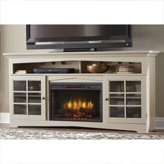 Great Pic Electric Fireplace christmas Tips Home Decorators Collection Avondale Grove 70 in. TV Stand Infrared Electric Fireplace in Aged White Decor, House Design, Home, Fireplace Console, Entertainment Center, Cool House Designs, Home Decorators Collection, Fireplace Tv Stand, Fireplace Entertainment
