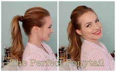 A couple tricks to get a great everyday ponytail.