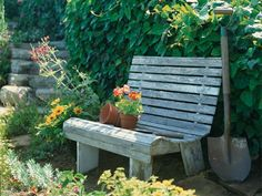A classic bench nestled among the greenery makes a perfect spot for taking in the results of your outdoor sweat equity. See how to make this garden bench with our easy instructions