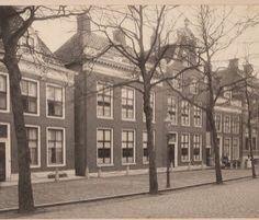 Oude foto van de gevel van het Hannemahuis, Voorstraat 56 Harlingen, ca 1900