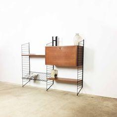 "Bokhyllan ""the ladders shelf "" String Regal | teak wall unit Nisse & Kaisa Strinning, 1949"