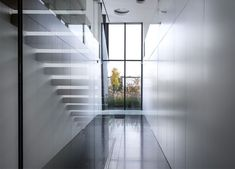 Cube Shaped Glass House by BBSC Architects staircase