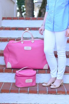 Racheltimmerman Featuring Our Jon Hart Design Fuchsia Steamer Makeup Case My Style Bags